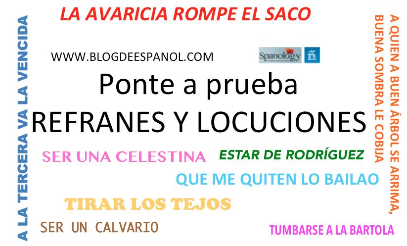 Refranes y locuciones en español