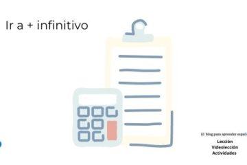 ir a + infinitivo en español