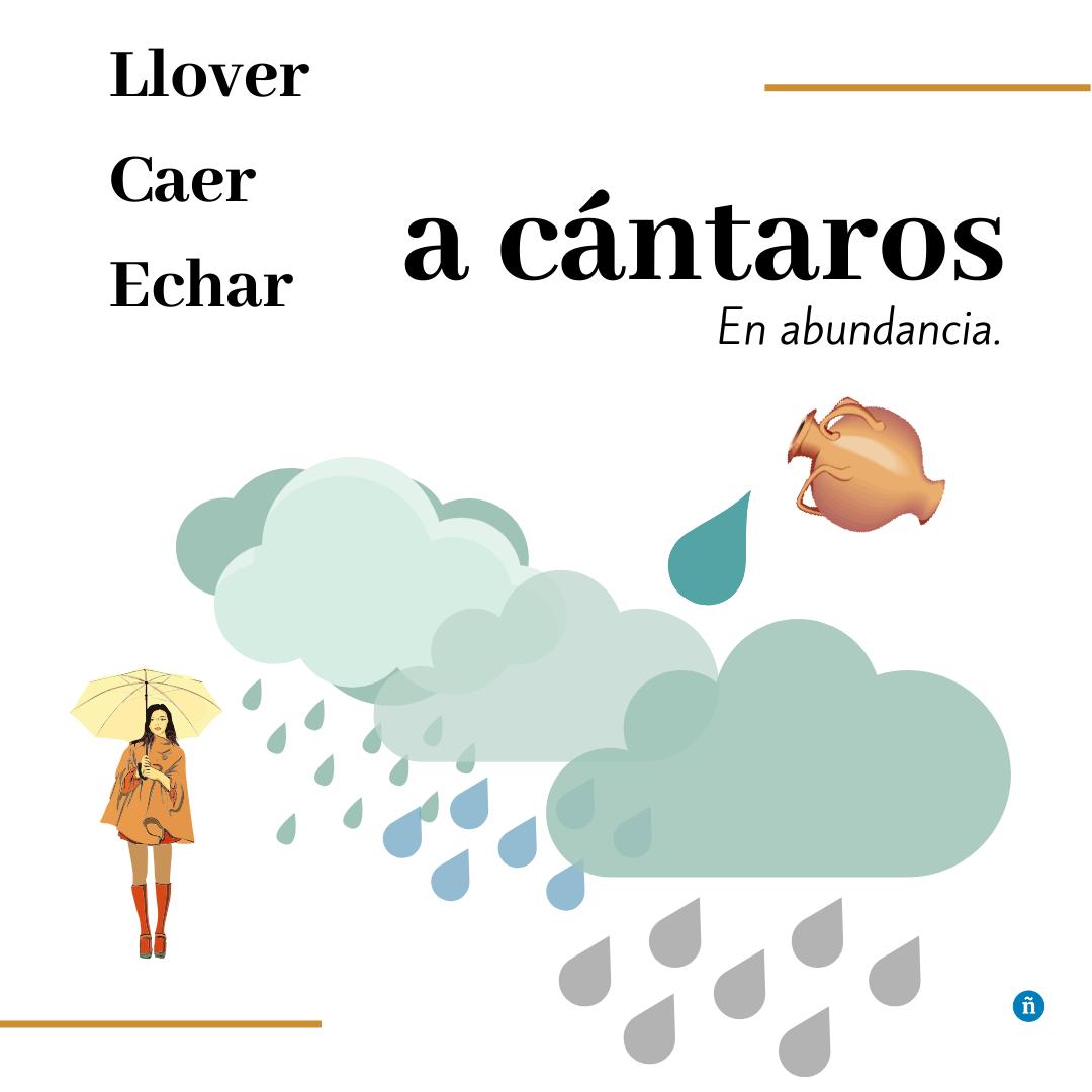 llover a cántaros significado y ejemplos